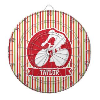 サイクリング、サイクリスト; 赤、オレンジ緑のストライプ ダーツボード