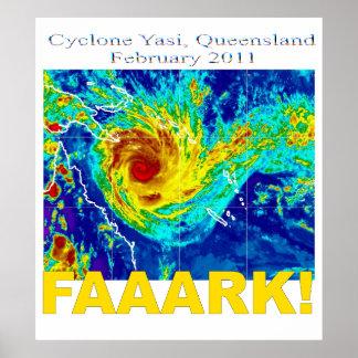 サイクロンYasi、クイーンズランド、2011年2月 ポスター