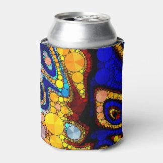 サイケデリックできらきら光るなパターン 缶クーラー