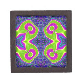 サイケデリックでトリップ(幻覚体験)のようななパターン ギフトボックス