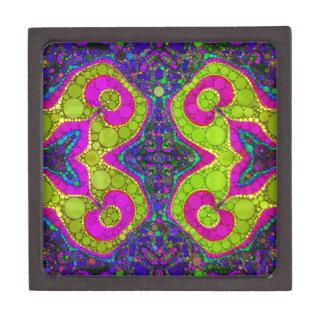 サイケデリックで抽象的な回転 ギフトボックス