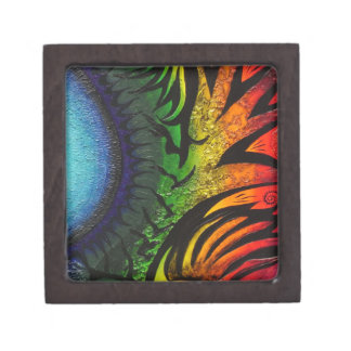 サイケデリックで抽象的な絵画 ギフトボックス