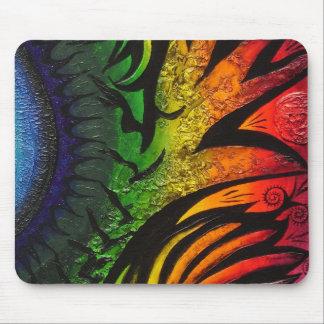 サイケデリックで抽象的な絵画 マウスパッド