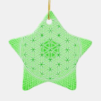 サイケデリックで神聖な幾何学のハートのチャクラのデザイン セラミックオーナメント