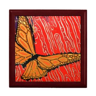 サイケデリックで色彩の鮮やかな蝶隠匿物箱 ギフトボックス