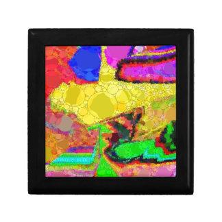 サイケデリックで黄色い紫系統の抽象芸術パターン ギフトボックス