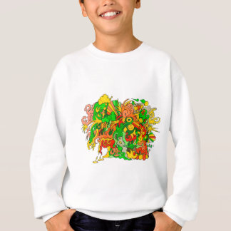 サイケデリックなおもしろい スウェットシャツ