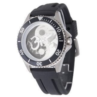 サイケデリックなイン及びヤンの腕時計 腕時計