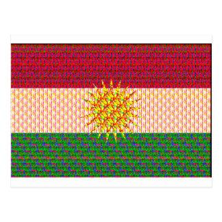 サイケデリックなクルジスタンの旗 ポストカード