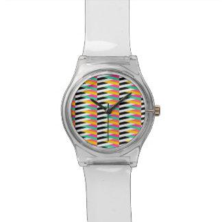 サイケデリックなシェブロンMay28thの腕時計 腕時計