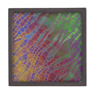 サイケデリックなシマウマの抽象芸術パターン ギフトボックス