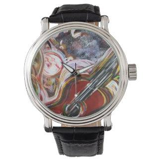 サイケデリックなジャズ風 腕時計