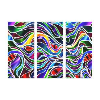 サイケデリックなステンドグラスの抽象芸術 キャンバスプリント