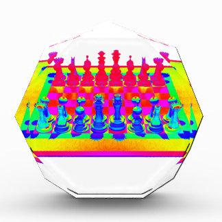 サイケデリックなチェス盤および駒 表彰盾