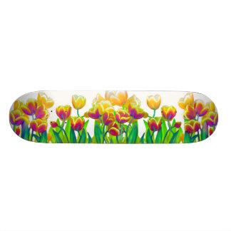 サイケデリックなチューリップのスケートボード スケボーデッキ