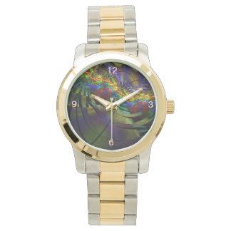 サイケデリックなトラック 腕時計