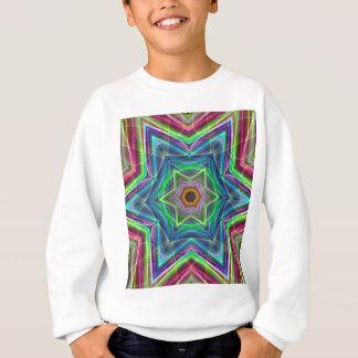 サイケデリックなネオンのカッコいいのモダンな星の形 スウェットシャツ
