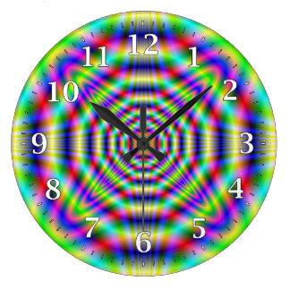 サイケデリックなネオン装飾的な柱時計 ラージ壁時計