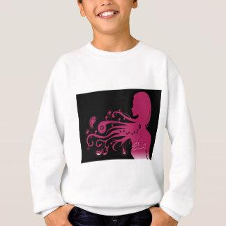 サイケデリックなピンクの抽象芸術の女の子 スウェットシャツ