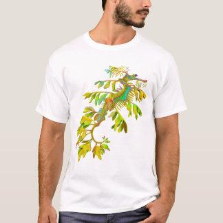 サイケデリックなファンタジーの海のドラゴンのタツノオトシゴのTシャツ Tシャツ