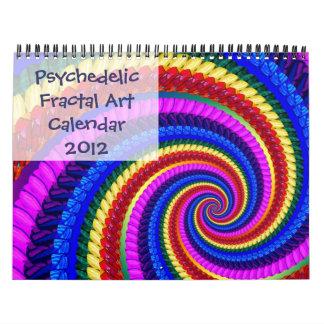 サイケデリックなフラクタルの芸術のカレンダー2012年 カレンダー