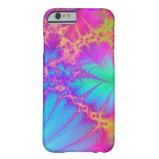 サイケデリックなフラクタルの虹のiPhone 6の場合 Barely There iPhone 6 ケース
