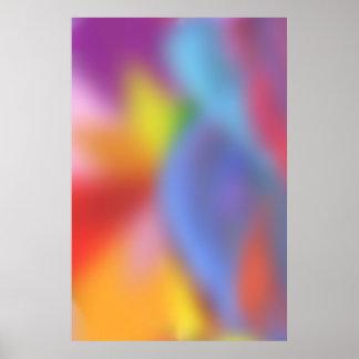 サイケデリックなポスター: 柔らかい色 ポスター