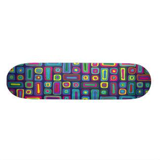 サイケデリックなモザイクスケートボード カスタムスケートボード