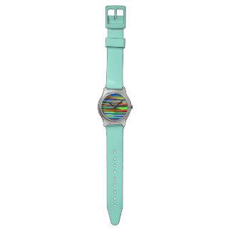 サイケデリックなライン 腕時計