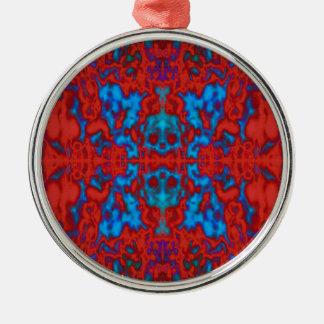 サイケデリックな万華鏡のように千変万化するパターンパターン メタルオーナメント
