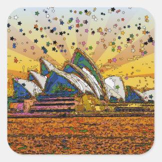 サイケデリックな世界: シドニーのスカイラインA1 スクエアシール