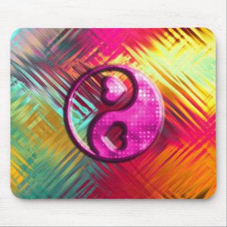 サイケデリックな平和愛デザイン マウスパッド