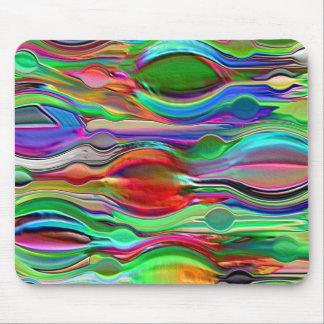 サイケデリックな心の波 マウスパッド