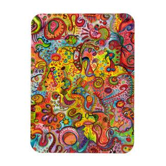 サイケデリックな抽象美術の報酬の磁石 マグネット