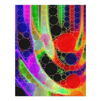 サイケデリックな抽象芸術 レターヘッド