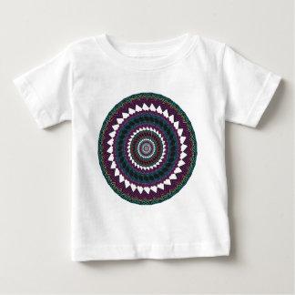 サイケデリックな放射状のアートワーク: ベビーTシャツ