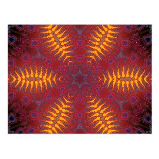 サイケデリックな放射状のアートワーク: ポストカード