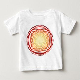 サイケデリックな放射状パターン: ベクトル芸術: ベビーTシャツ