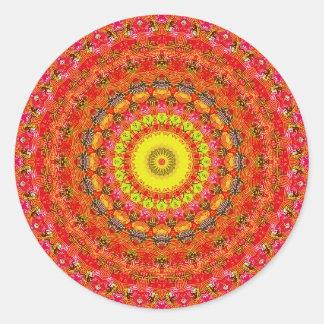 サイケデリックな放射状パターン: ラウンドシール