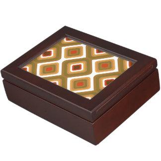 サイケデリックな正方形 ジュエリーボックス