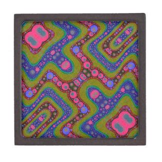 サイケデリックな波状の抽象的なパターン ギフトボックス
