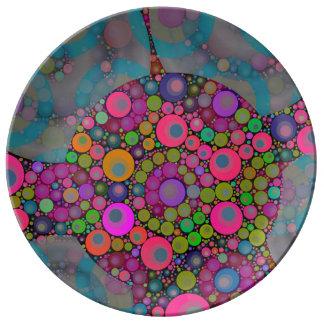 サイケデリックな浮遊泡 磁器プレート