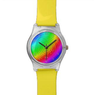 サイケデリックな液体の虹II 腕時計