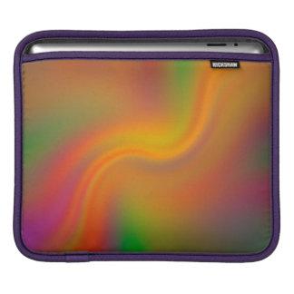 サイケデリックな渦巻く色のデザインのiPadの袖 iPadスリーブ