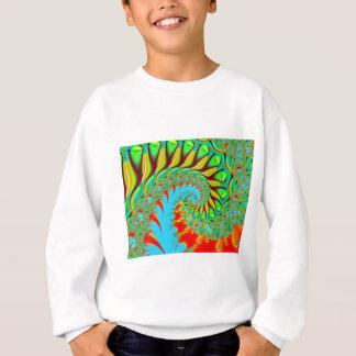 サイケデリックな渦巻の芸術のフラクタル スウェットシャツ