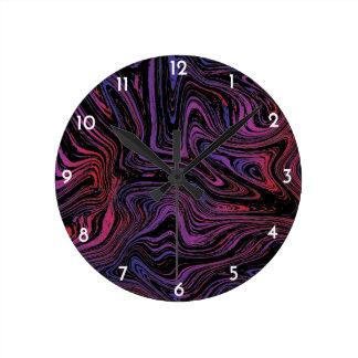 サイケデリックな渦巻 ラウンド壁時計
