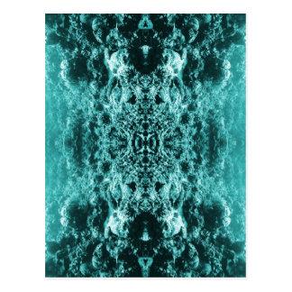 サイケデリックな珊瑚礁の対称 ポストカード