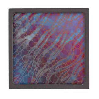 サイケデリックな紫系統のシマウマ ギフトボックス