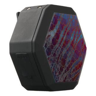 サイケデリックな紫系統のシマウマ ブラックBluetoothスピーカー