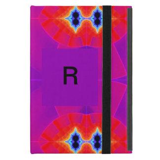 サイケデリックな紫色のオレンジアートワーク iPad MINI ケース